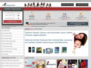 Web Adresimiz: www.Sohbetsuper.Com  Sitemizin içeriği: Tanışma, Chat, Sohbet, Canlı Sohbet Online Chat Odaları  Açıklama: Sohbet sitemize internet erişimi bulunan tüm cihazlardan bağlanabilirsiniz. Sizler için hazırlanmış Kaliteli bir Sitedir. Gerek arama motorları, Gerek sosyal ağlar, gerek forumlar, gerek internet siteleri, gerekse de diğer yazılımlar yardımı ile sitemize katılabilirsiniz.  Site ile ilgili iletişim Maili: Admin@SohbetSuper.Com
